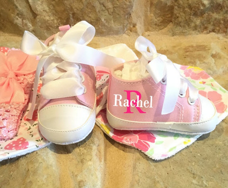 Girl Shoes/Custom Baby Girl Shoes/High Top Shoes/Baby image 0