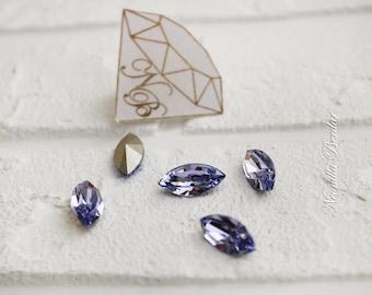 4228 15x7 mm Swarovski Lavender Navette Xilion Fancy Stone