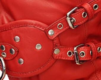 Lamb-leather Gag Hood