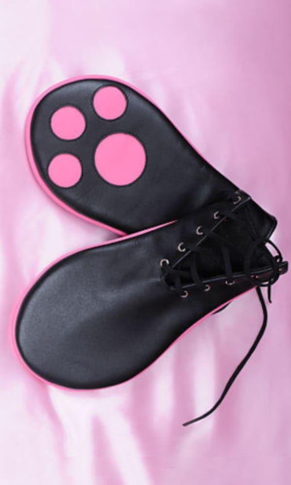 Leather fetish bondage bdsm Petgirl Paws (pair) oCqPBvS