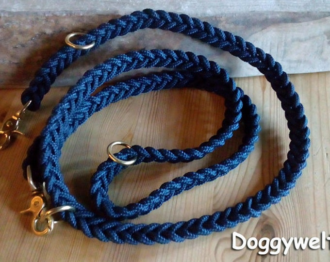 Dew Dog leash-adjustable, flat knotted