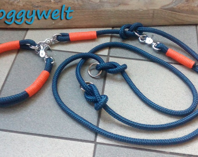Kombi Tau dog leash & collar