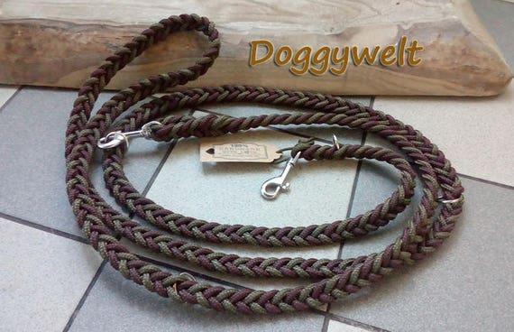 Dew Dog leash-adjustable, flat knotted