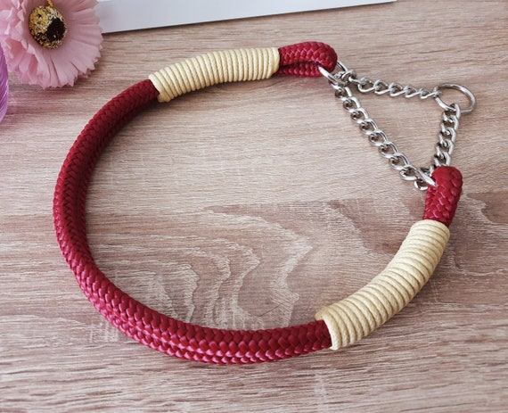 Tau Dog Collar with ZugStopkette