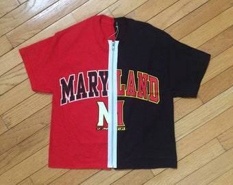 590d22cb48 University of Maryland Block Zippered t-shirt