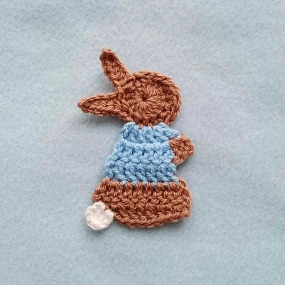 Crochet Pattern For The Pixie Rabbit Applique Crochet Etsy