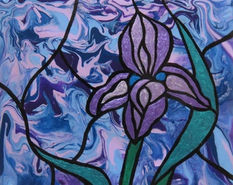 Orchid Glory Painted Tile