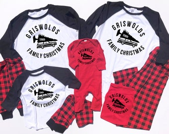 Matching Christmas Pajamas - Buffalo Plaid Pajama - Christmas Vacation Pajamas - Family Pajamas - Christmas Vacation - Couples Pajamas