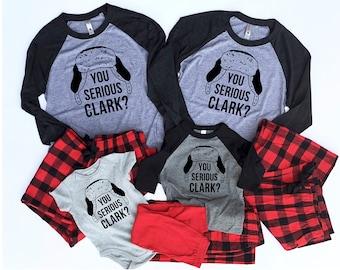 Matching Christmas Pajamas - Buffalo Plaid Pajamas - You Serious Clark Pajama - Family Pajamas - Christmas Vacation - Couples Pajamas