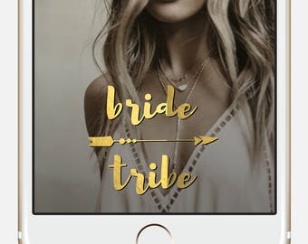 Gold Arrow Hen Party Geofilter * Bride Tribe snapchat filter Instant Bachelorette Snapchat Gold Boho Bridal Shower Gold Snapchat Filter