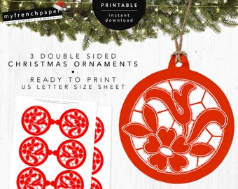 Printable Christmas Ornaments.Christmas Printable Tree Ornaments Diy Christmas Ornaments