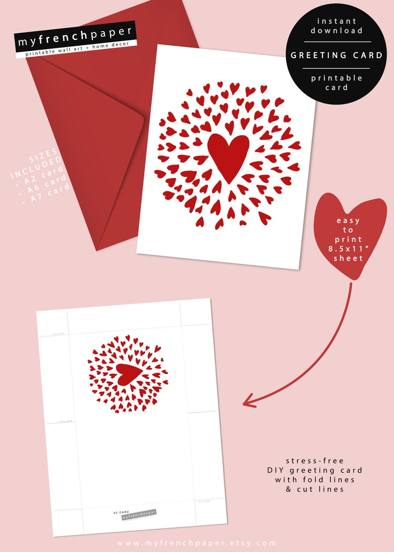 graphic regarding Free Printable Valentines Day Cards for Your Husband known as Electronic Valentines Working day Card for Him, Printable Valentines Working day Card Boyfriend Card, Spouse Valentines Working day Card Centre Valentines Working day Card