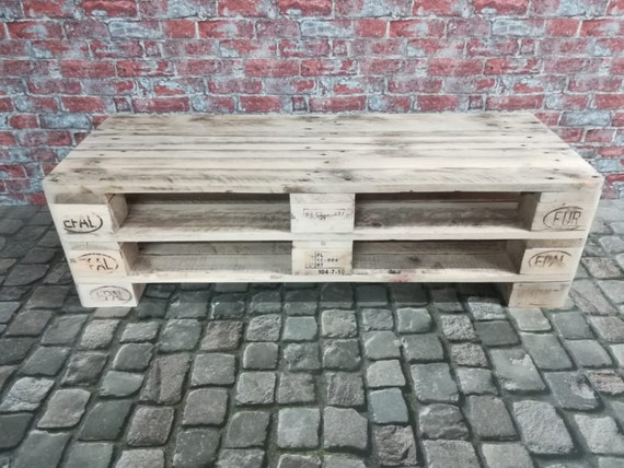 "Lowboard ""Lisbon"" / TV cabinet made of pallets with 4 compartments / pallet furniture"