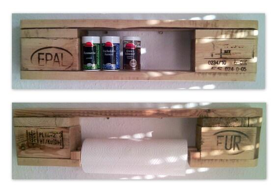 Kitchen or spice rack / kitchen roll holder / pallet furniture