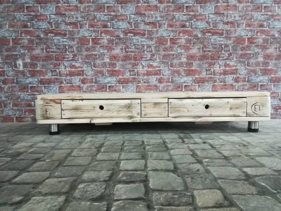 "Lowboard ""The Hague"" / TV cabinet made of pallets with 2 drawers / pallet furniture"