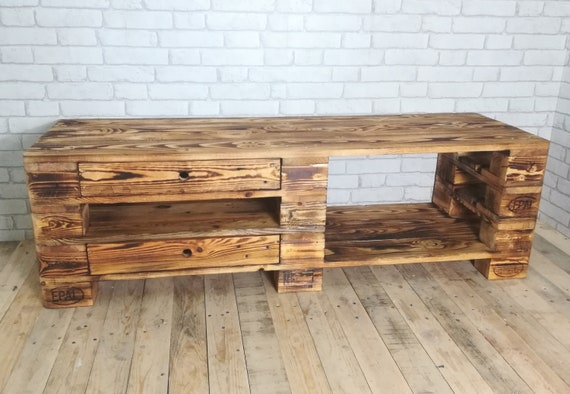 """Lowboard """"Bern"""" / TV cabinet made of pallets / pallet furniture"""