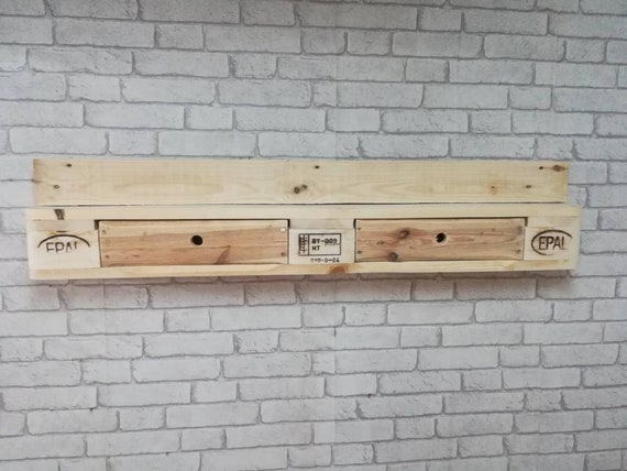 Wall shelf / shelf made of pallets with 2 drawers / pallet furniture