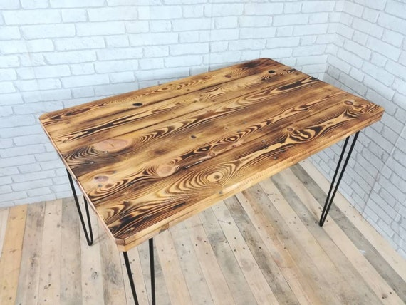 "Dining table ""Siggy"" made of pallets / pallet furniture on Hairpin Legs"