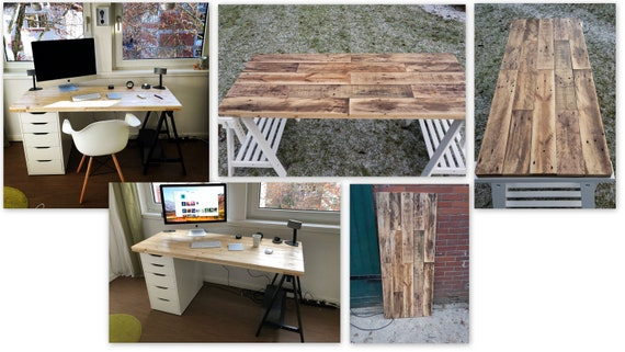 Table top made of pallet wood from 75,- / pallet furniture