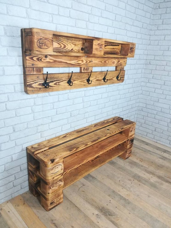 "Set shoe rack ""Versen"" and wardrobe ""Norderney"" made of pallets / pallet wood"