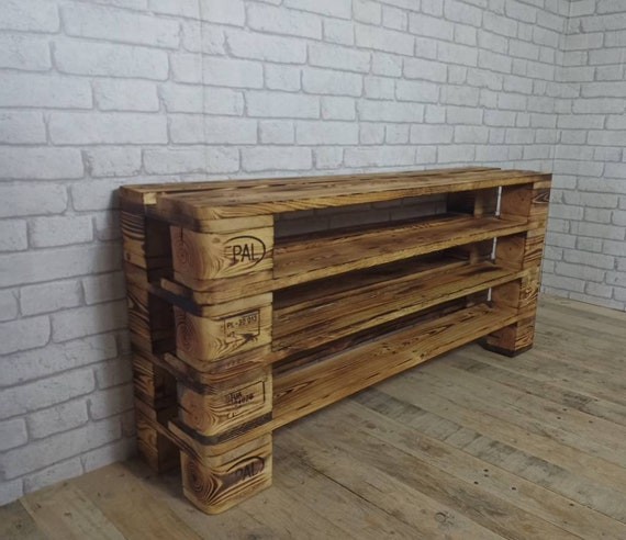 "Shoe rack ""Esterfeld"" with 4 floors of pallets / pallet furniture"