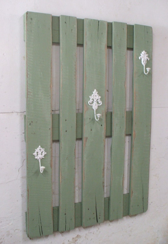 "Wardrobe ""Pellworm"" vintage green from pallets / pallet furniture"