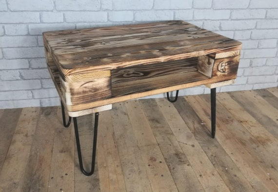 """Coffee table/side table """"Ivar"""" made of pallets / pallet furniture on Hairpin Legs"""