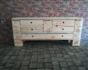 """Chest of drawers """"Großer Moritz"""" with 5 drawers made of pallets / pallet furniture"""