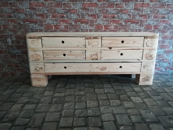 """Chest of drawers """"Great Moritz"""" with 5 drawers made of pallets / pallet furniture"""