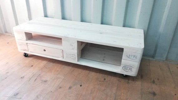 """Lowboard """"Riga"""" / TV cabinet with 1 drawer of pallets / pallet furniture"""