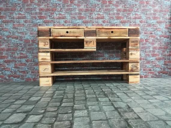 """Shoe rack """"Hüntel"""" made of pallets / pallet furniture"""