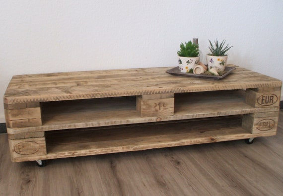 "Lowboard ""Astana"" / TV cabinet made of pallets with 3 compartments / pallet furniture"