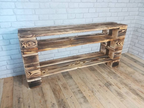 """Shoe rack """"Teglingen"""" with 4 floors and extra-high compartment made of pallets / pallet furniture"""
