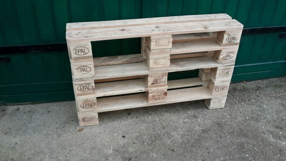 "Shoe rack ""Holthausen"" made of pallets with 2 extra-high compartments / pallet furniture"