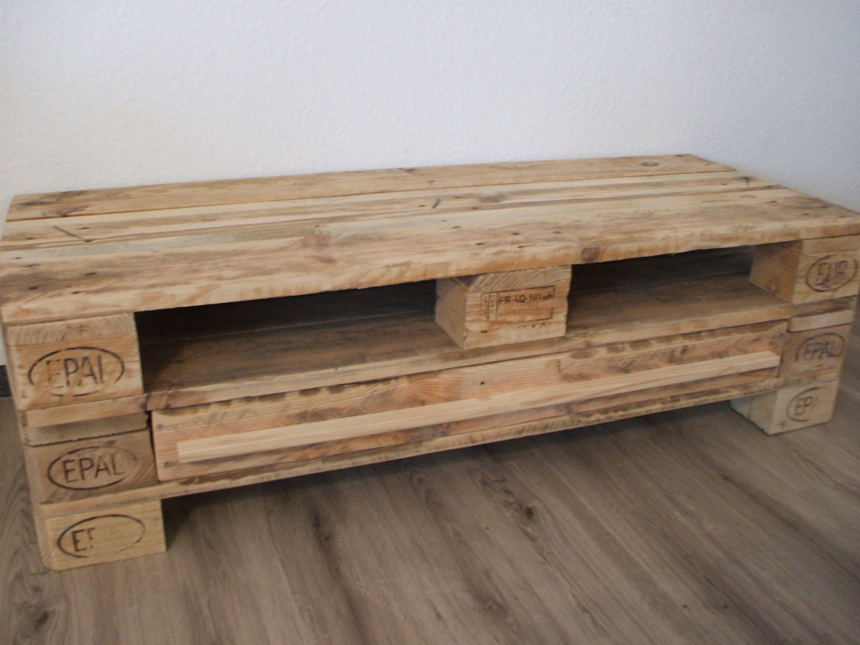 Lowboard Tv Cabinet Made Of Pallets Palettenmobel