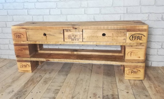 "Shoe rack ""Klein Fullen"" made of pallets - special size 100 cm - / pallet furniture"