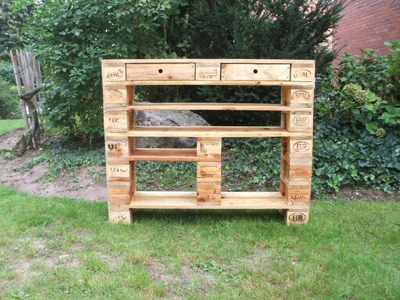 """Shoe rack """"Hemsen"""" made of pallets with 2 extra high compartments / pallet furniture"""