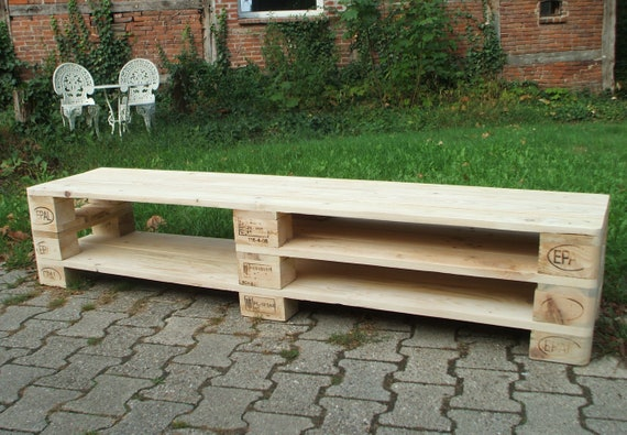"Lowboard ""Brussels"" / TV cabinet made of pallets 180 cm BREITE!!! / Pallet furniture"