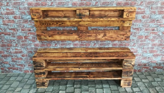 "Set shoe rack ""Versen"" and wardrobe ""Norderney"" made of pallets / pallet wood"