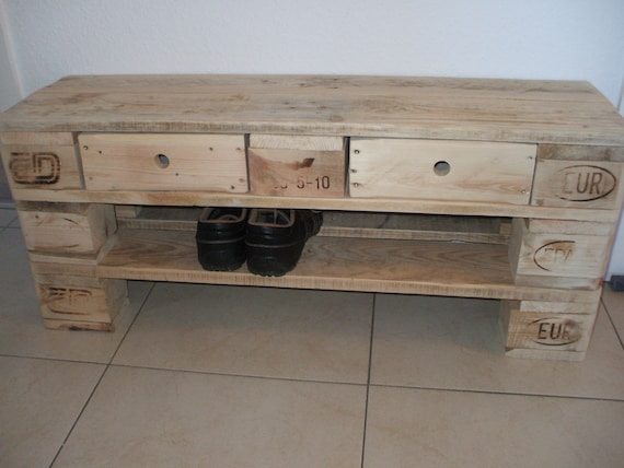 "Shoe rack ""Klein Fullen"" made of pallets - special size 100 cm - / pallet furniture"