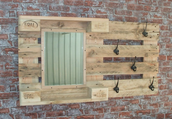 """Wardrobe """"Langeoog"""" with mirror pallets / pallet furniture pallets wardrobe"""