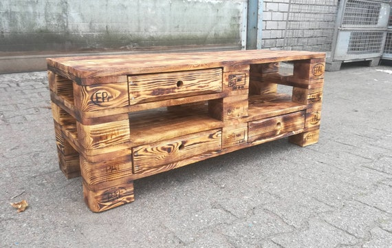 "Lowboard ""Tirana"" / TV cabinet made of pallets / pallet furniture"