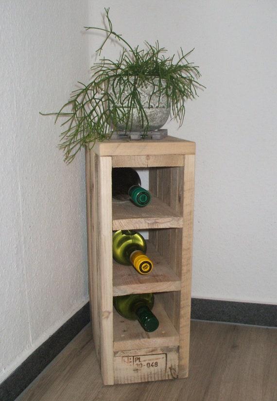 "Wine rack / CD shelf ""Lilliput"" made of pallet wood"