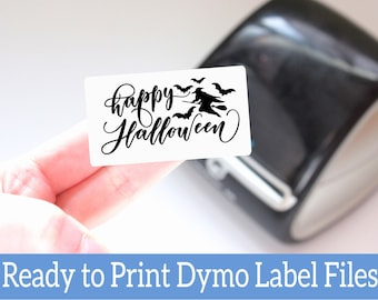 Halloween Printable Labels - Happy Halloween Dymo Compatible Ready-to-Print Labels for Small Business