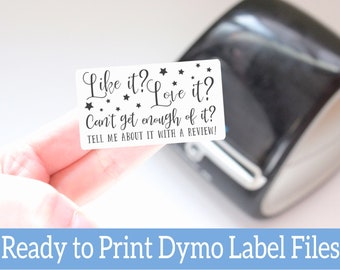 Customer Leave a Review Labels - Love Your Purchase Stickers -Ready to Print Packaging Stickers -Dymo Label Designs -Dymo Compatible Labels