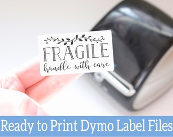Fragile Stickers - Handle with Care - Love Your Purchase Stickers -Ready to Print Packaging Stickers -Dymo Label Designs -Dymo Compatible