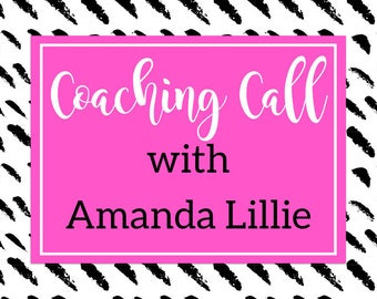 Coaching Call with Amanda Lillie - Craft Show or Digital Sale Mentor Session - 30 Minute Session - 60 Minute Session