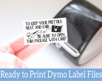 Open with Care - Ready to Print Packaging Stickers - Dymo Label Designs - Dymo Compatible Labels for Handmade Sellers