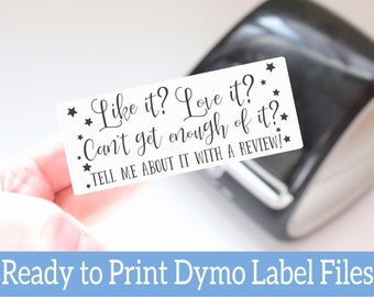Leave a Review Labels -  Leave a Review Stickers - Ready to Print Packaging Stickers - Dymo Label Design -Dymo Compatible Labels for Sellers
