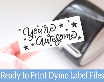 You're Awesome Labels -  Ready to Print Packaging Stickers -Customer Appreciation Dymo Label Design -Dymo Compatible Label Files for Sellers